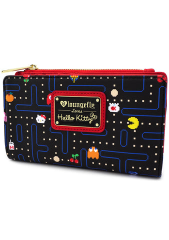 X Hello Kitty X Pac Man Maze Bi-Fold Wallet