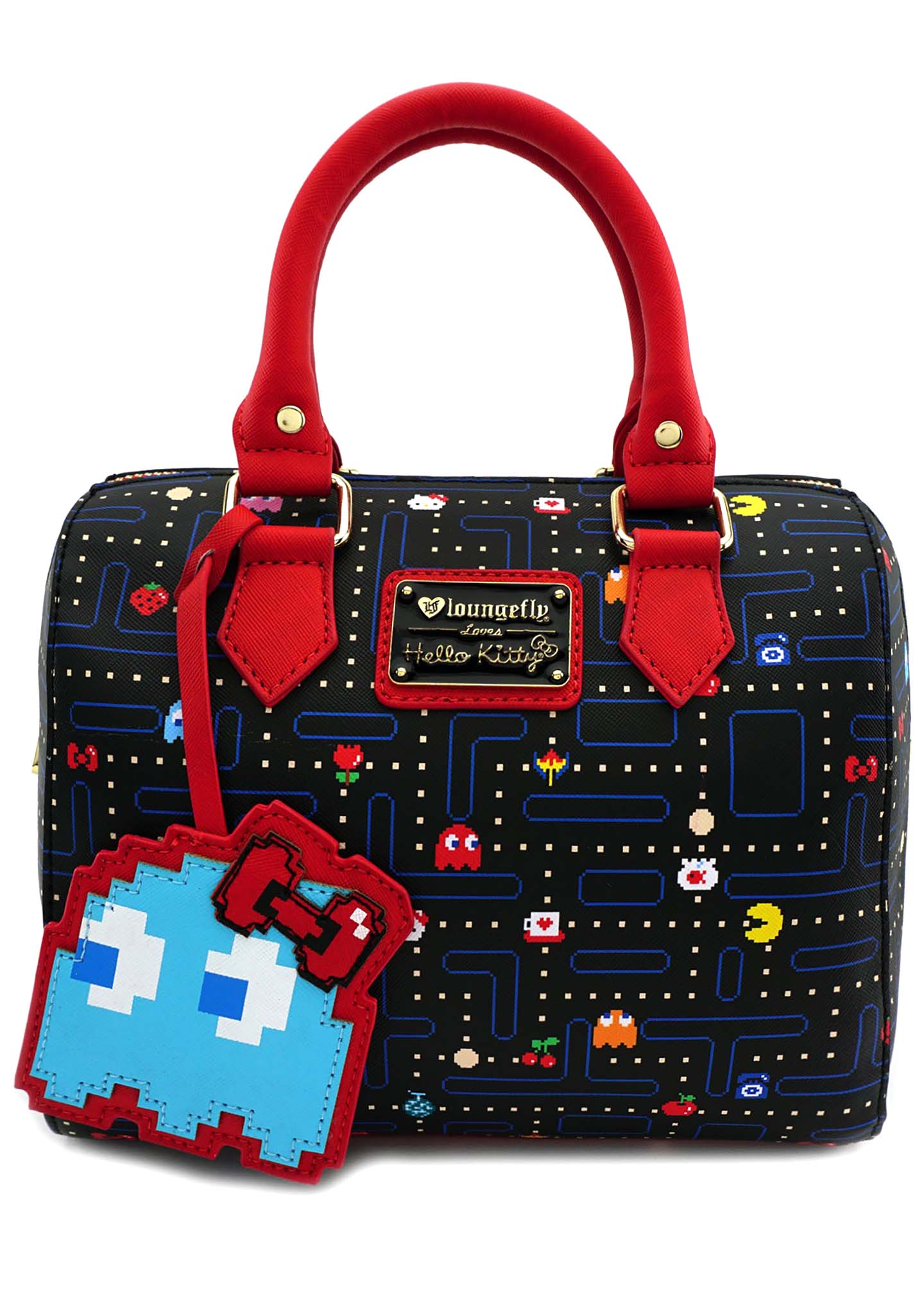 LOUNGEFLY   Shop Loungefly X Hello Kitty X Pac Man Maze Duffle Bag ... 6c2a7164e0