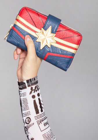 X Marvel Captain Marvel Cosplay Wallet
