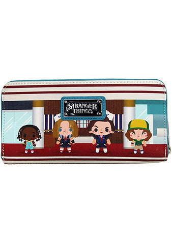 X Netflix Stranger Things Starcourt Chibi Zip Wallet