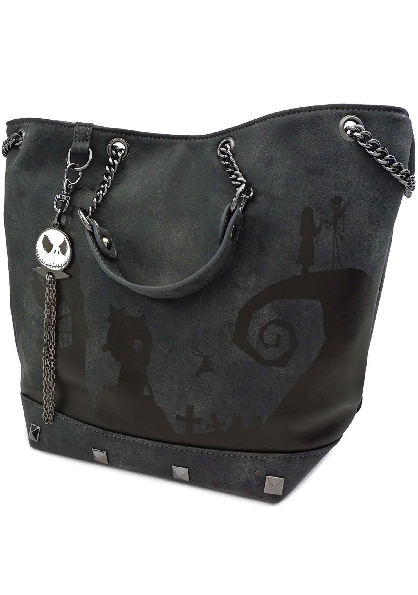 X Nightmare Before Christmas Halloween Town Tote Bag