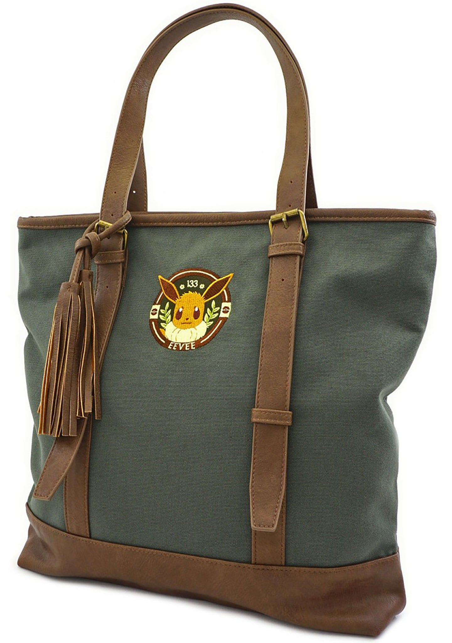 X Pokemon Eevee Canvas Tote