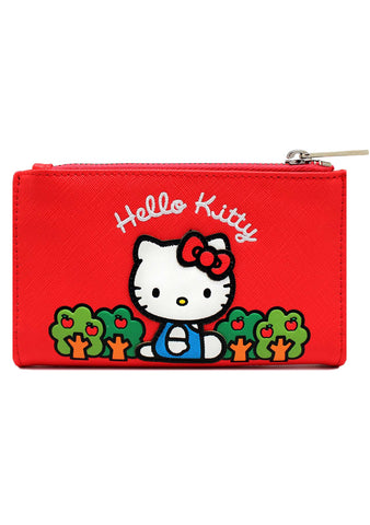 X Sanrio Hello Kitty Apple Bi-Fold Wallet