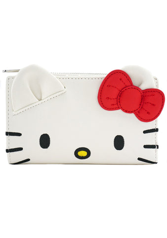 X Sanrio Hello Kitty Face Bi-Fold Wallet