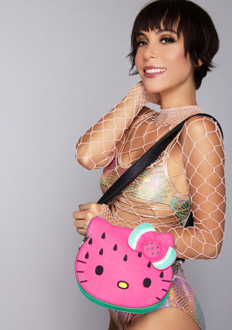 X Sanrio Hello Kitty Face Watermelon Crossbody Bag