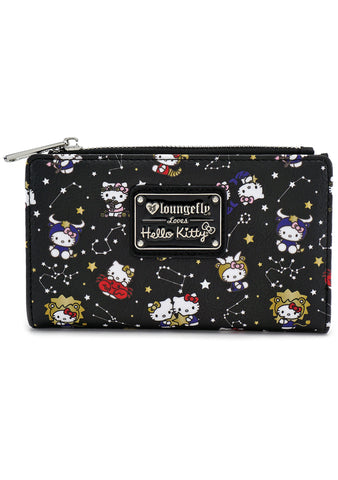X Sanrio Hello Kitty Zodiac AOP Bi-Fold Wallet