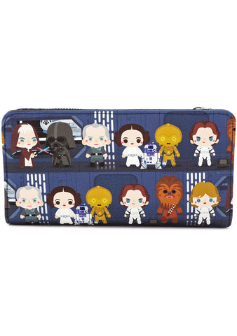 X Star Wars Chibi Battle Station Flap Wallet