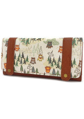 X Star Wars Ewok Forest AOP Canvas Tri-Fold Wallet