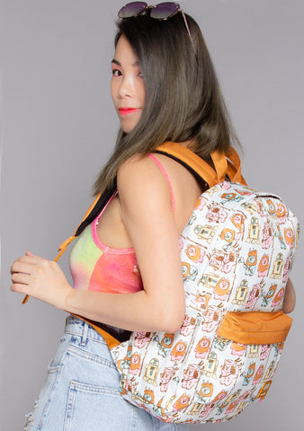 X Star Wars Pastel Ewok AOP Nylon Backpack