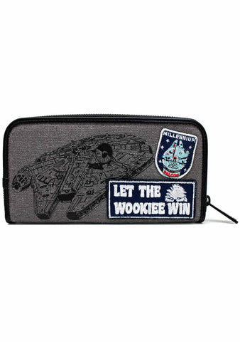 X Star Wars Rebel Wookiees Patch Zip Wallet