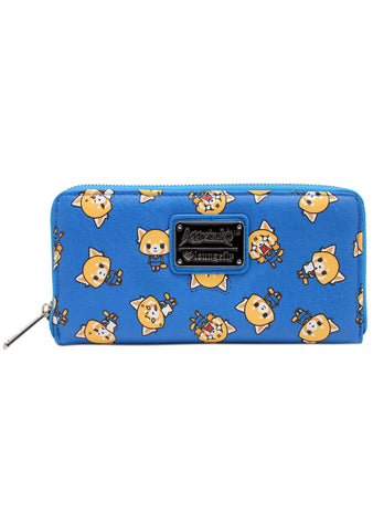 X Aggretsuko AOP Zip Wallet