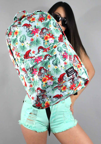 X Disney Ariel Floral Leaves Backpack
