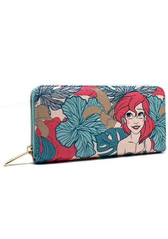 X Disney Ariel Leaves Zip Around Wallet