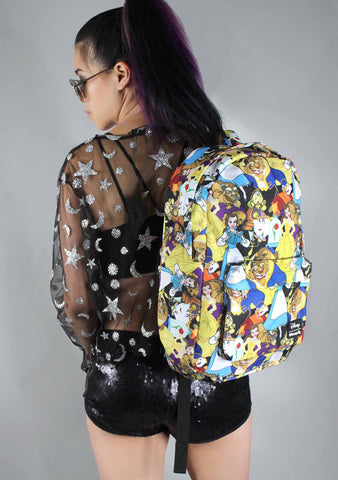 X Disney Beauty And The Beast AOP Backpack