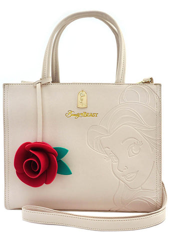 Loungefly X Disney Beauty and the Beast Belle Charm Satchel Bag