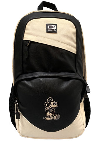 X Disney Mens Mickey Taupe Canvas Backpack