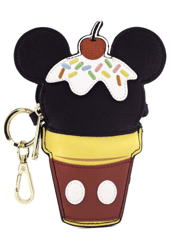 X Disney Mickey Ice Cream Cone Coin Bag