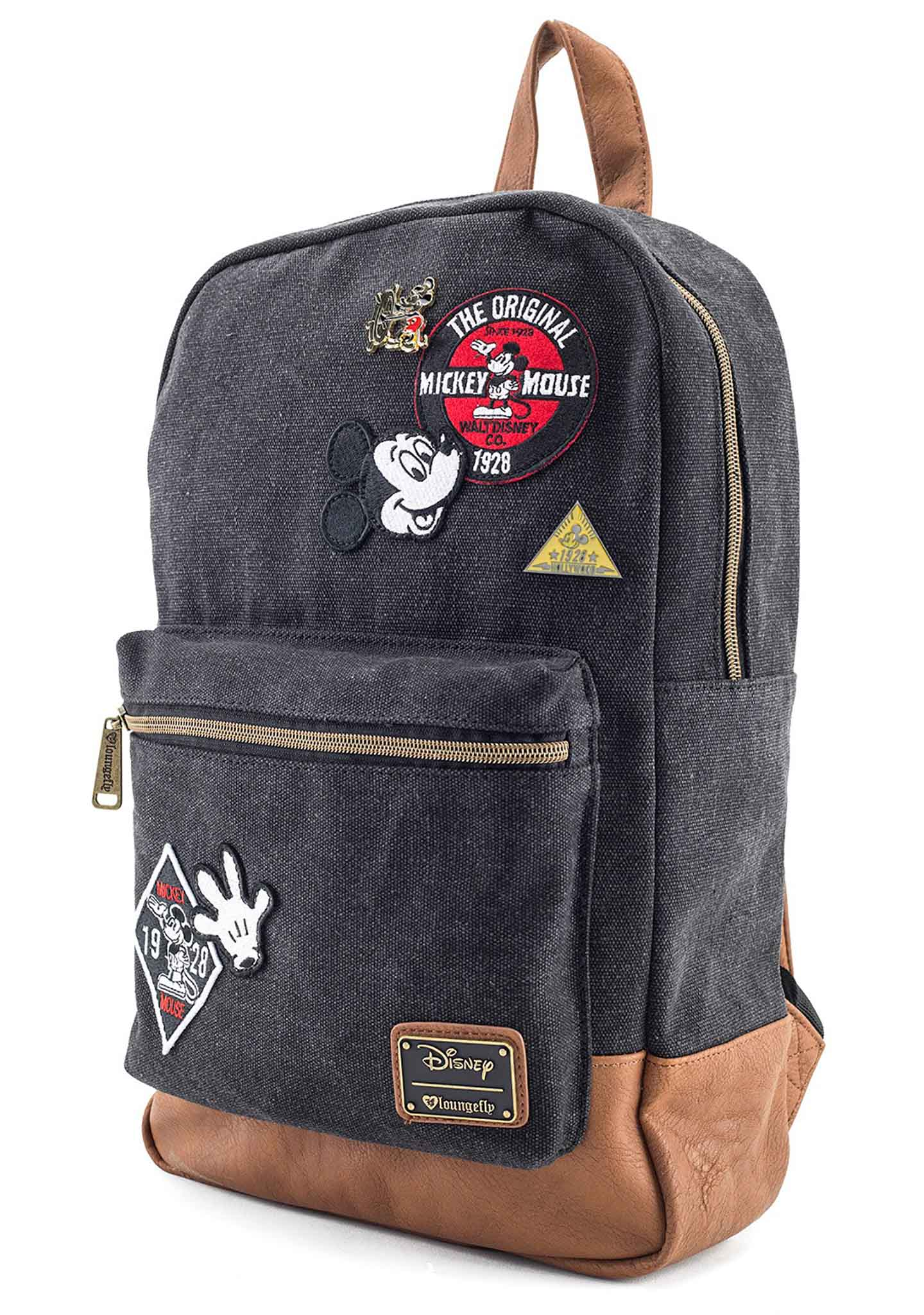 X Disney Mickey Patches Denim Backpack