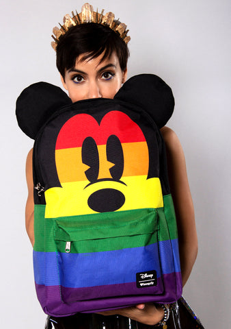 Loungefly X Disney Mickey Rainbow Backpack
