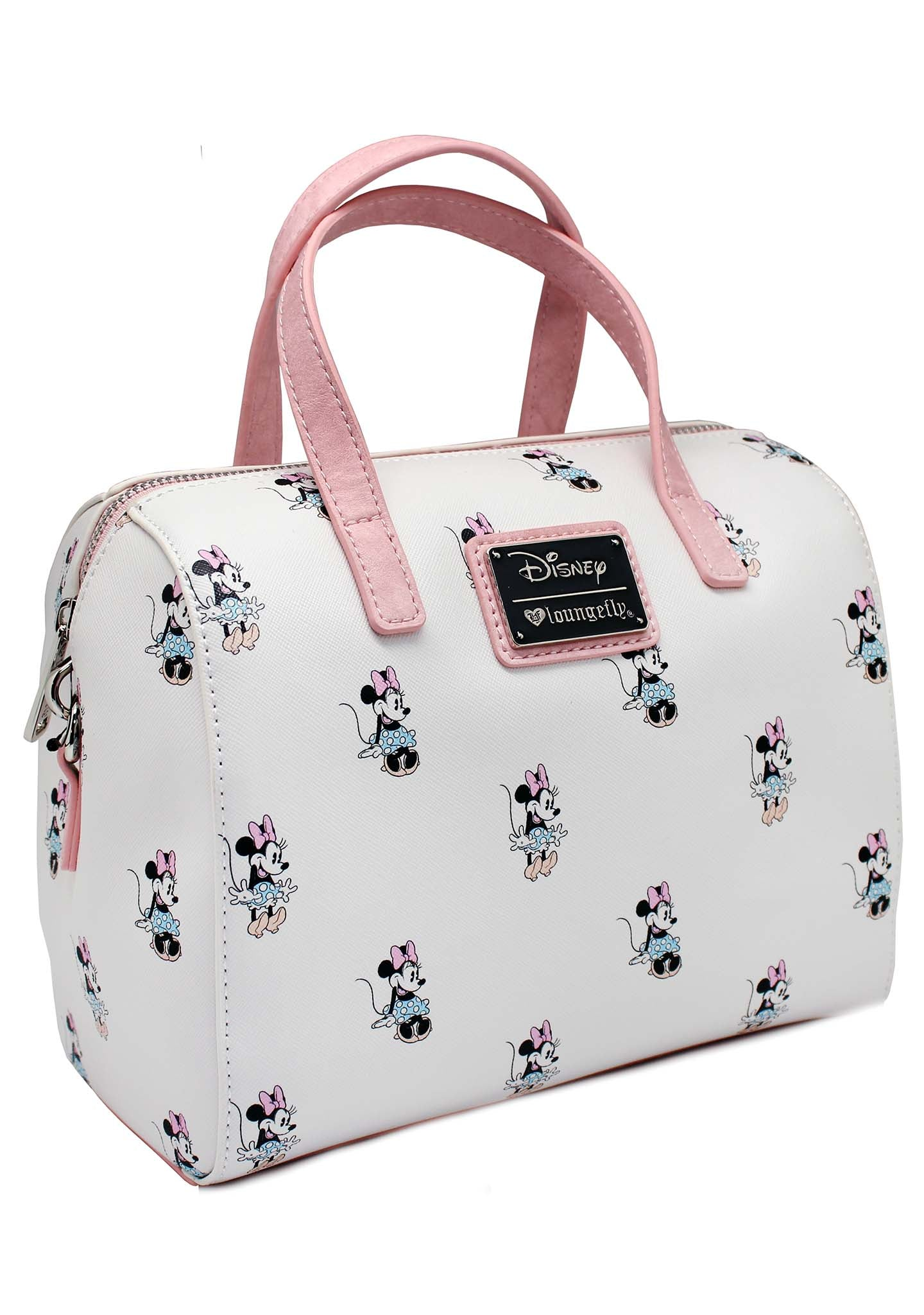 LOUNGEFLY   Shop Loungefly X Disney Minnie AOP Cream Duffle Bag at ... 8786df6489