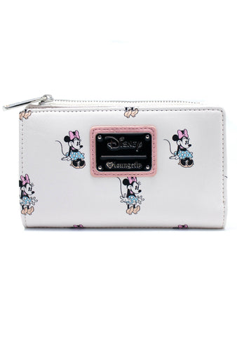 X Disney Minnie AOP Cream Bi-Fold Wallet