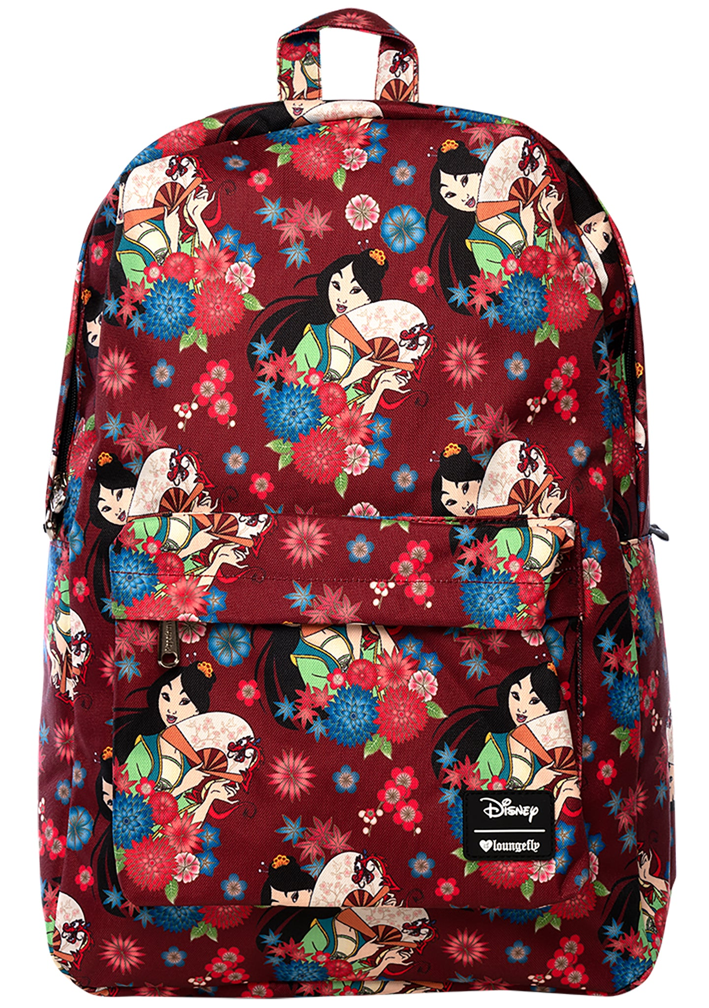 Loungefly X Disney Mulan Floral Fan Backpack
