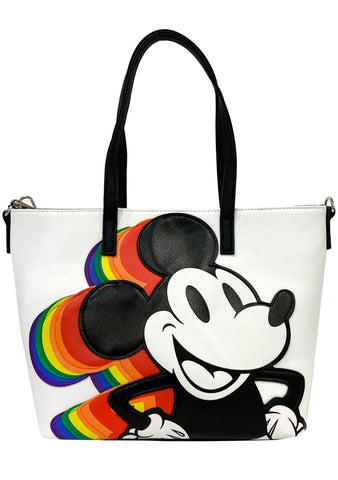 Loungefly X Disney Vintage Mickey Mouse Rainbow Totebag