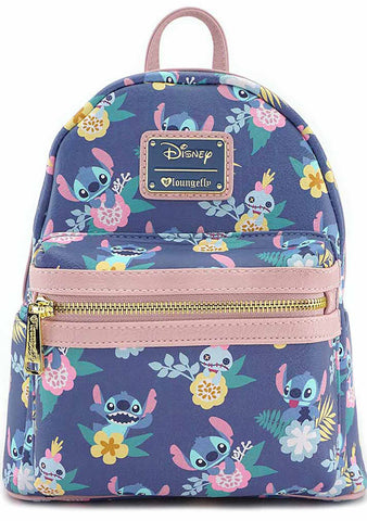 X Disney Stitch and Scrump Floral Mini Backpack