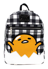 X Gudetama Eggshell Gingham Mini Backpack