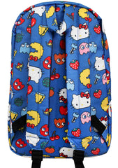 X Hello Kitty X Pac Man Characters Backpack