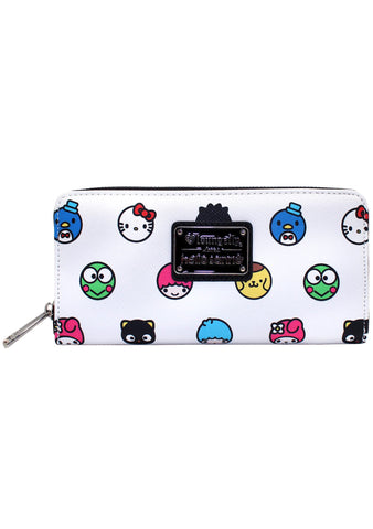 X Hello Sanrio Circle Zip Wallet