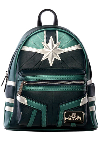 Loungefly X Captain Marvel Green Suit Mini Backpack