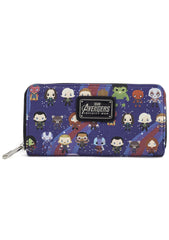 X Marvel Avengers Kawaii Zip Around Wallet