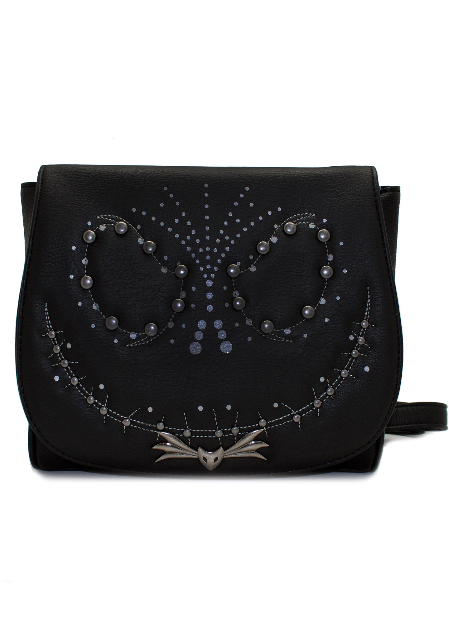 X Nightmare Before Christmas Jack Studded Flap Crossbody Bag