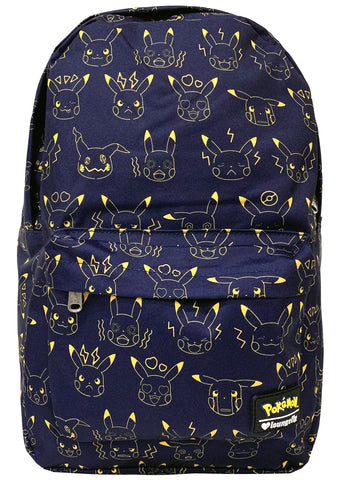 Loungefly X Pokemon Pikachu Expressions AOP Backpack