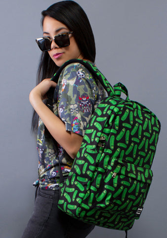 X Rick and Morty Pickle Rick AOP Backpack