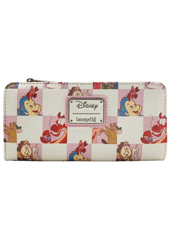 X Disney BFF Character Checker Rose Zip Wallet