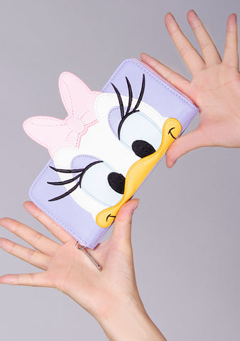 X Disney Daisy Duck Cosplay Zip Wallet