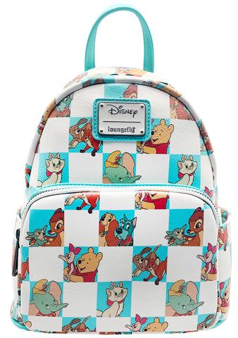 X Disney Friends Checker Character Mint Mini Backpack