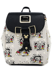 X Disney Mickey and Minnie Bow Hardware AOP Backpack