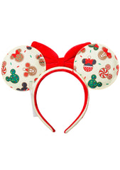X Disney Mickey And Minnie Christmas Cookie Ear Headband