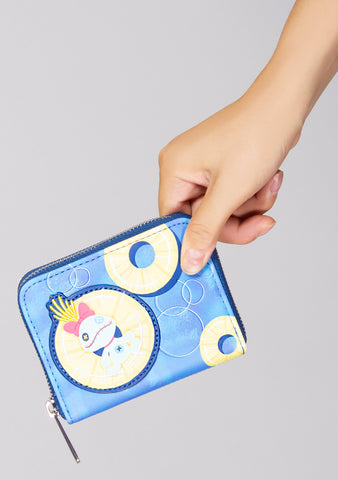 X Disney Lilo and Stitch Pineapple Floaty Scrump Zip Wallet