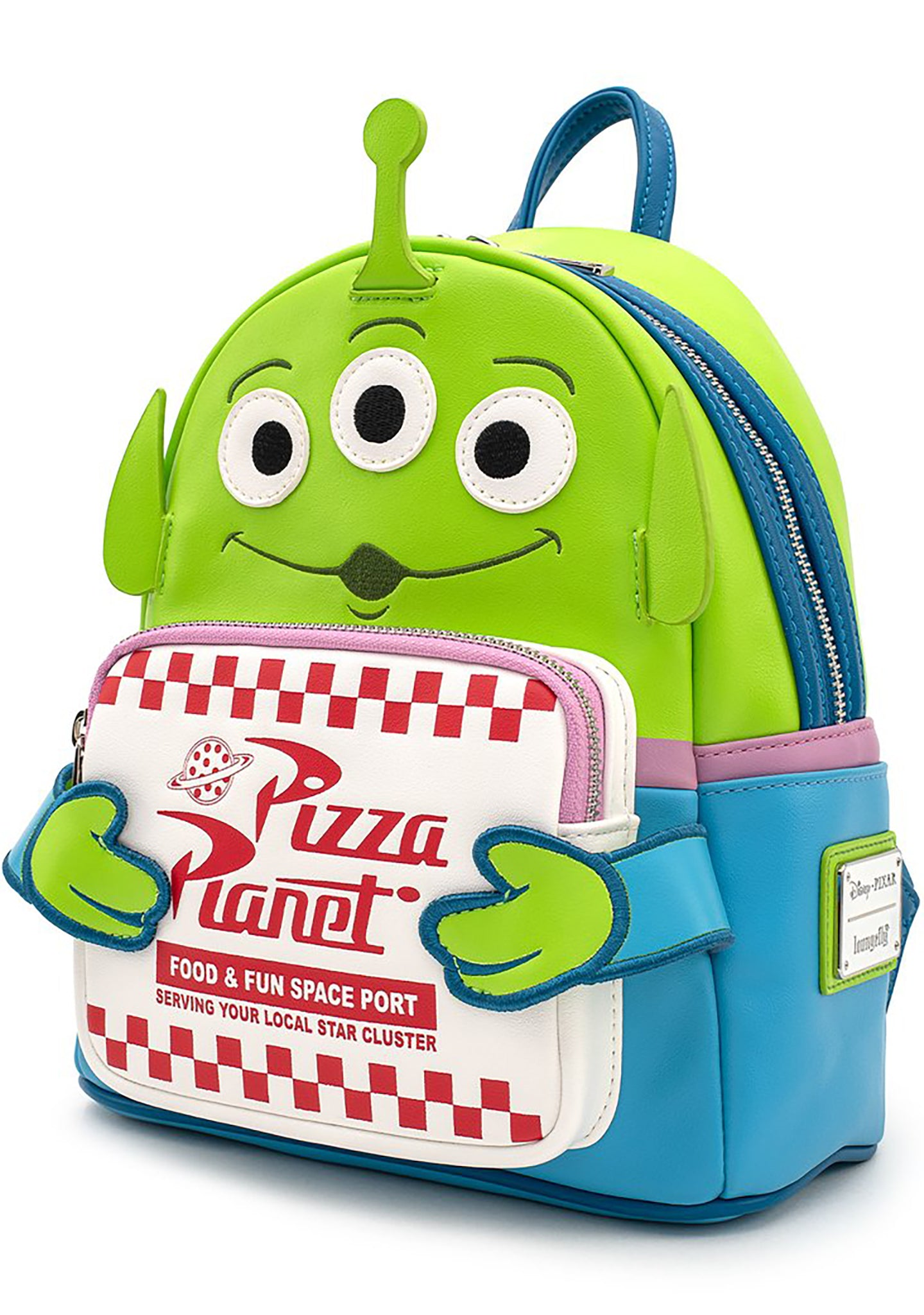 X Pixar Toy Story Pizza Planet Alien Mini Backpack