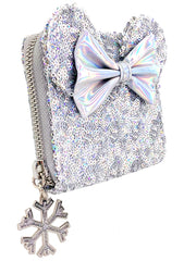 X LASR Exclusive Disney Holographic Sequin Minnie Zip Wallet