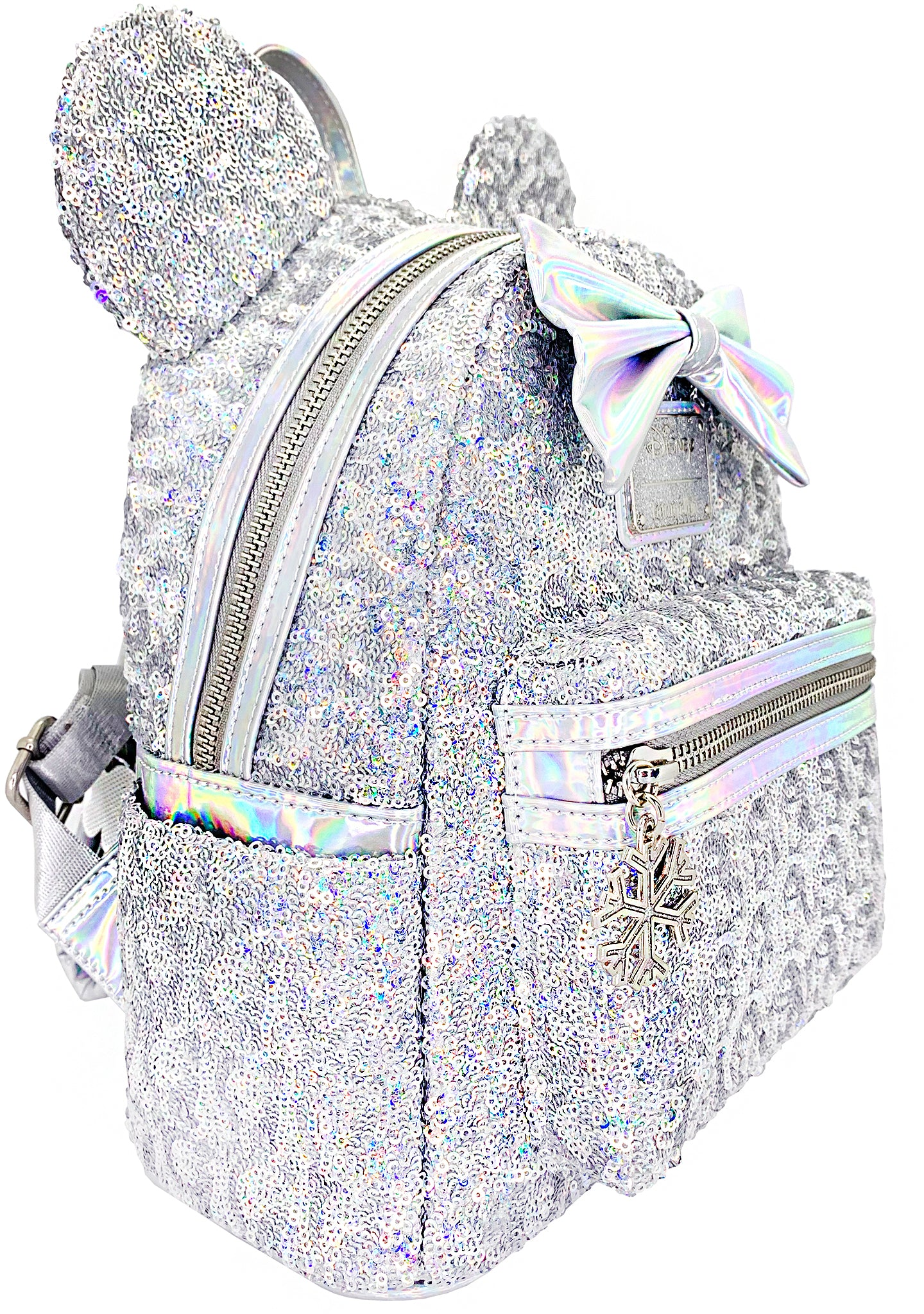 X LASR Exclusive Disney Holographic Sequin Minnie Mini Backpack