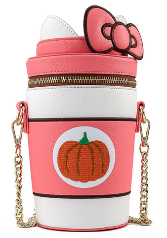 X Sanrio Hello Kitty Pumpkin Spice Kitty Cup Crossbody Bag