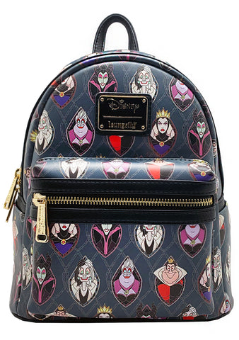 X LASR Exclusives Disney Villains Stained Glass Mini Backpack
