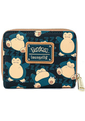 X Pokemon Snorlax Zip Wallet