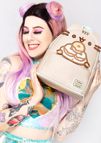 X Pusheen Plate-O-Donuts Cosplay Mini Backpack