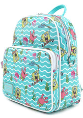 X Nickelodeon Spongebob Jellyfishing AOP Convertible Mini Backpack